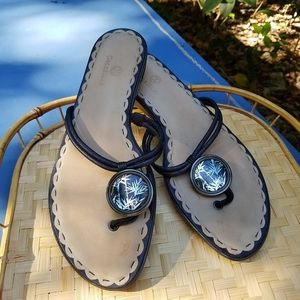 Cole Haan Nike Air leather thing sandals 9.5 B